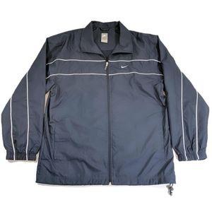 Nike Warmup Track Jacket Windbreaker Navy Size L